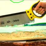 Videodreh Backe Frieden Szene Kuchen
