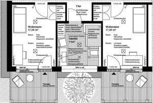 Lutz Herzog Architekt - werkstatt zwei - Wohneinheiten mit Sanitärkern